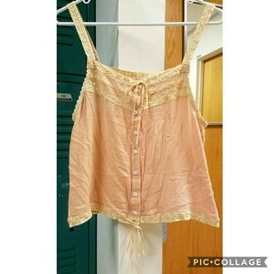 *Size Swap* Prairie Lace Cami in Peach